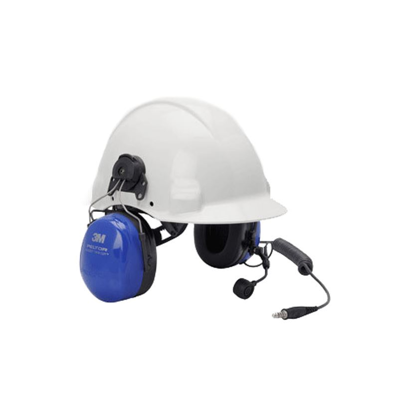 Peltor ATEX Twin Cup Headset with Helmet Attachment and Boom Microphone