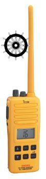 Icom IC-GM1600E GMDSS Survival Craft VHF MED Approved Handheld Radio