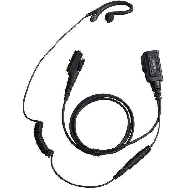 Hytera C-Style Detachable Earpiece with In-line PTT and Microphone