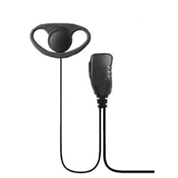 Icom 2 Pin D-Shape Earpiece With Lapel Microphone and PTT Button