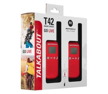 Motorola T42 License Free Red Twin Pack