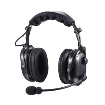 Carbon Fibre Lightweight Headset With Boom Microphone and PTT Button