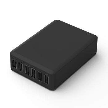 Six Port USB Hub Charger Complete With Six Micro USB Cables