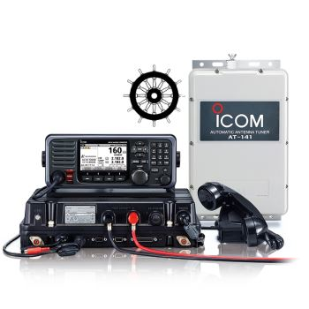 Icom IC-GM800 GMDS MF / HF Transceiver With Class A DSC and AT141 Automatic Antenna Tuner