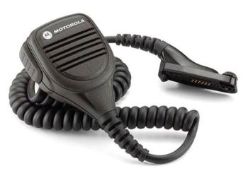 Motorola GP340 Remote Speaker Microphone With Audio Jack and Windporting