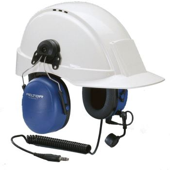 Peltor ATEX Heavy Duty Headset with Helmet Attachment and Boom Microphone