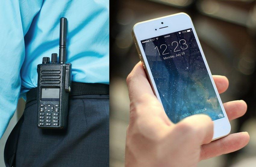 Two-way radio vs mobile phone
